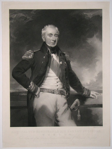 Admiral The Honourable Sir Robert Stopford, G.C.B. &c. &c. &c. Rear Admiral of the United Kingdom & Governor of Greenwich Hospital.