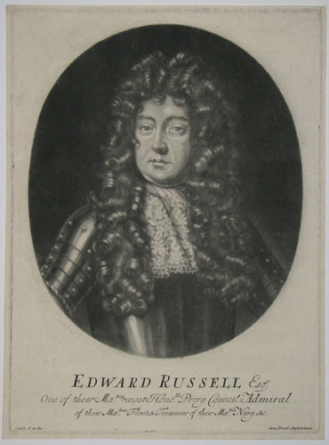Edward Russell Esqr. One of their Maties. most Honoble. Privy Council, Admiral of their Maties. Fleet & Treasurer of their Maties. Navy. &c.