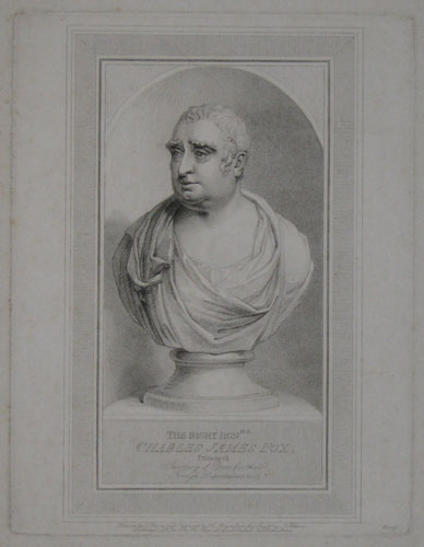 The Right Honble. Charles James Fox. Principal Secretary of State for the Foreign Department, 1806.