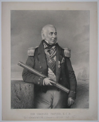 Sir Charles Napier, K.C.B. Vice Admiral of the Blue, & Command in Chief of the Baltic Fleet.