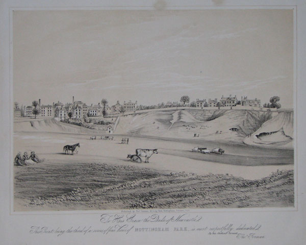 To His Grace the Duke of Newcastle,  This Print, being the third of a series of four Views of Nottingham Park,