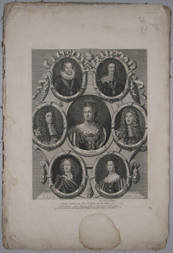 King Charles I and the Heads of the Noble Earls, Lords and others, who suffered for their Loyalty in the Rebellion and Civil-Wars of England.