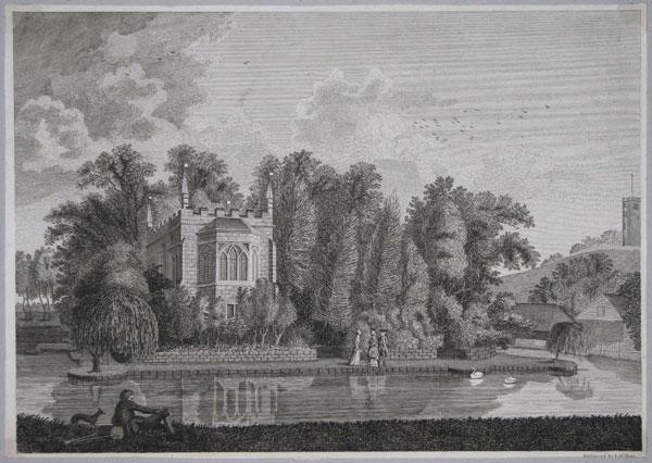 [A Room Built by Sir James Burrows on the Castle Bank at Starburgh near Lingfield Surrey.]
