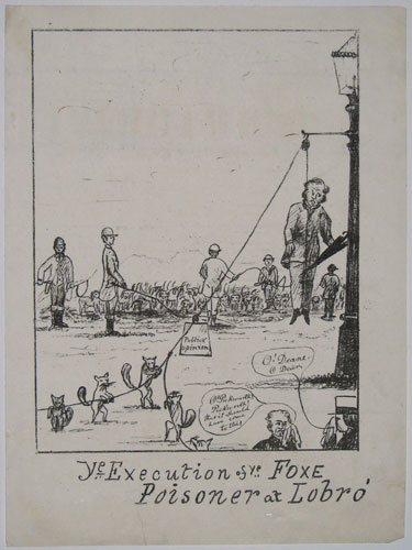Ye Execution of ye Foxe Poisoner at Lobro'