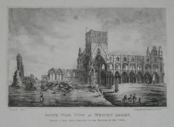 South West View of Whitby Abbey,