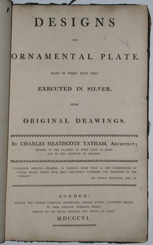 Designs for Ornamental Plate, Many of Which have been Executed in Silver from Original Drawings.