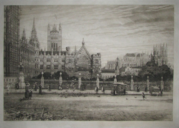 North side of the Palace of Westminster, Clock Tower, New Palace Yard, Westminster Hall.