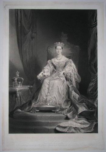 Her Most Gracious Majesty The Queen. To her Royal Highness the Duchess of Kent This Engraving is by Command, Most respectfully dedicated bu Her Royal Highness most Obedient humble Servants Paul & Dominic Colnaghi.