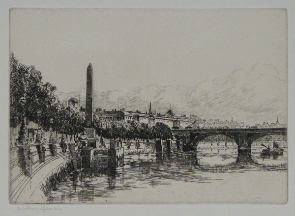 [Cleopatra's Needle and Waterloo Bridge] [No.5]