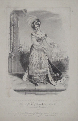 Madame Ronzi de Begnis as Fatima.