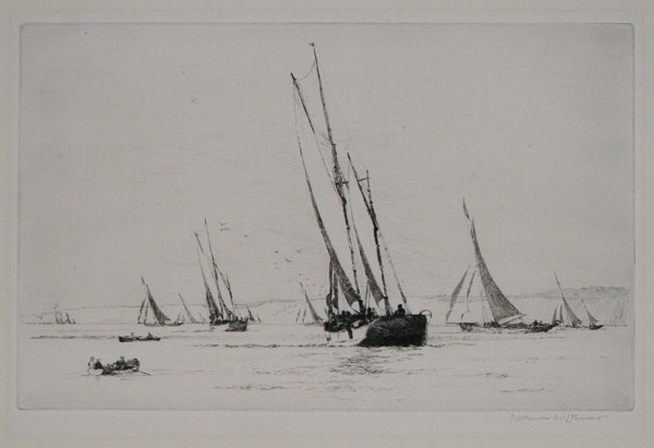 [Sail boats in coastal waters.]
