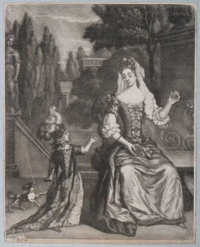 [Mary of Modena and James Francis Edward Stuart.]