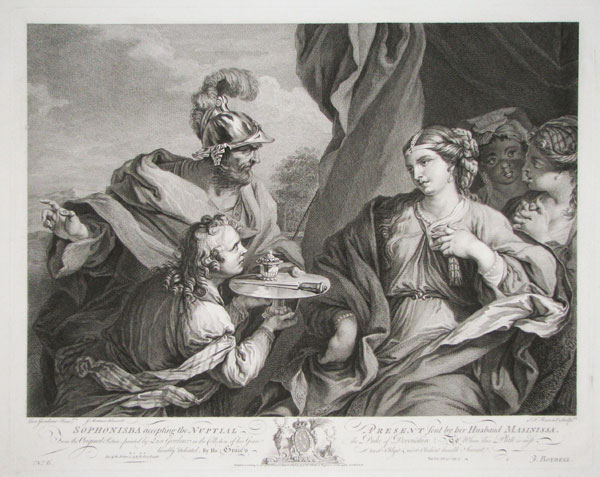 Sophonisba accepting the Nuptial Present sent by her Husband Masinissa.