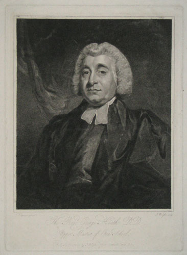 The Revd. George Heath D.D. Upper Master of Eton School.
