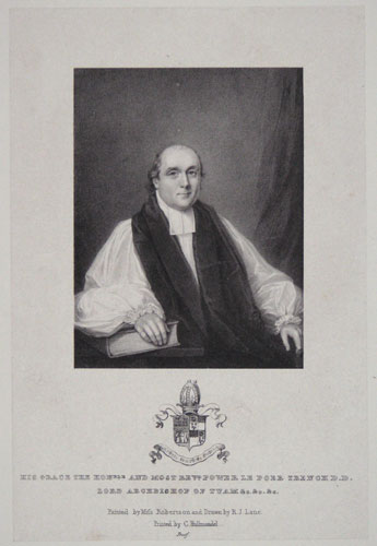 His Grace the Honble. and Most Revd. Power Le Poer Trench D.D. Lord Archbishop of Tuam &c. &c. &c.