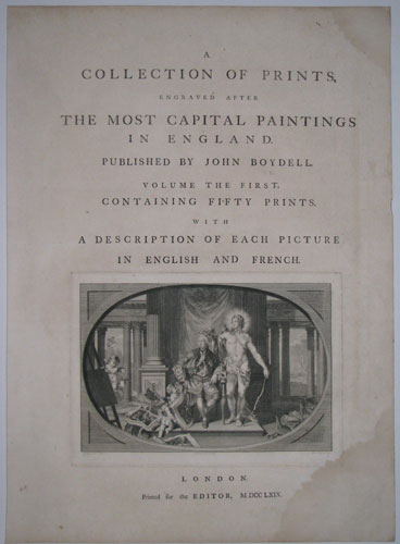 A Collection of Prints Engraved after The Most Capital Paintings in England.