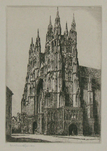 [Canterbury Cathedral West Front.] 35.