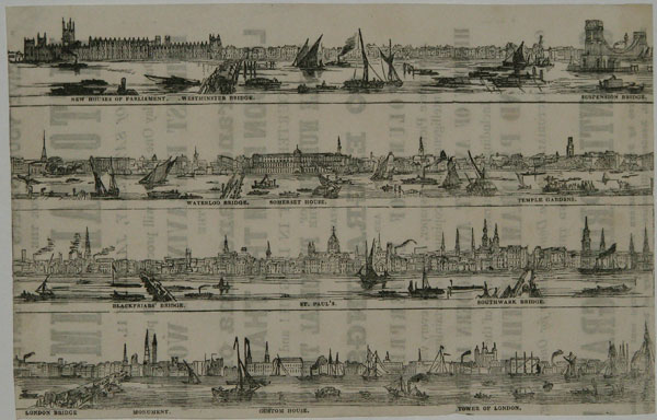 Give your orders immediately for the Pictorial Times of Saturday, January 11. On this day One Shilling will procure for all persons the Largest Engraving in the World, The Grand Panorama of London from the Thames, Fourteen Feet in Length! and a Double