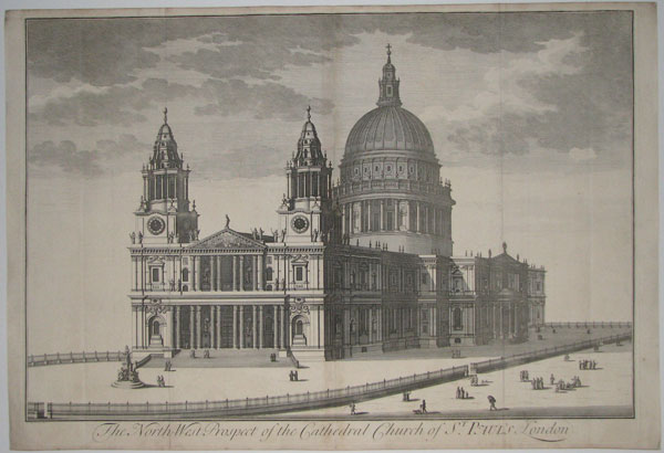 The North-West Prospect of the Cathedral Church of St. Paul's London.