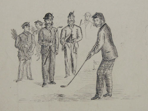[Collection of golfing sketches by John James Dalyell.]