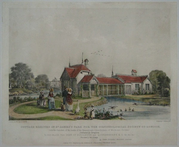 Cottage Erected in St. James's Park for the Ornithological Society of London,