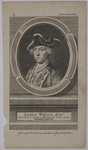 James Wolfe, Esqr. Commander in Chief of His Majesty's Forces in the Expedition to Quebec.