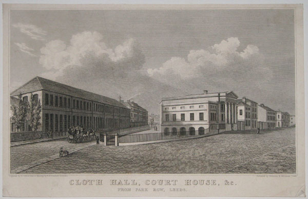 Cloth Hall, Court House. &c. From Park Row, Leeds.
