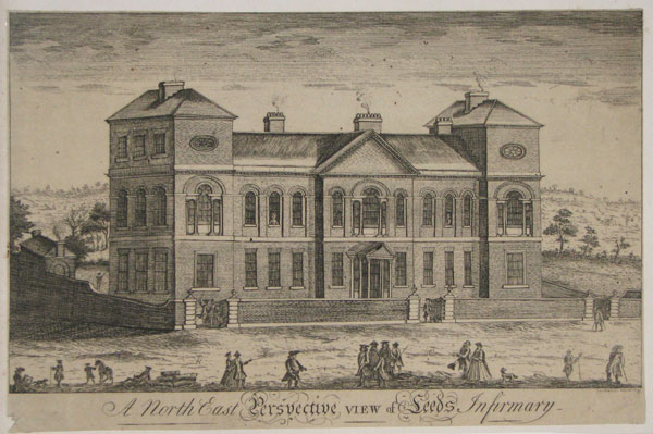 A North East Perspective View of Leeds Infirmary.