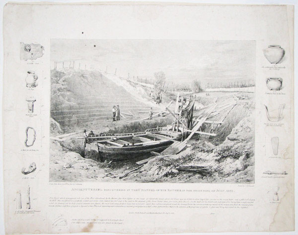 Ancient Vessel Discovered in the Channel of the Rother in the Beginning of July, 1822.
