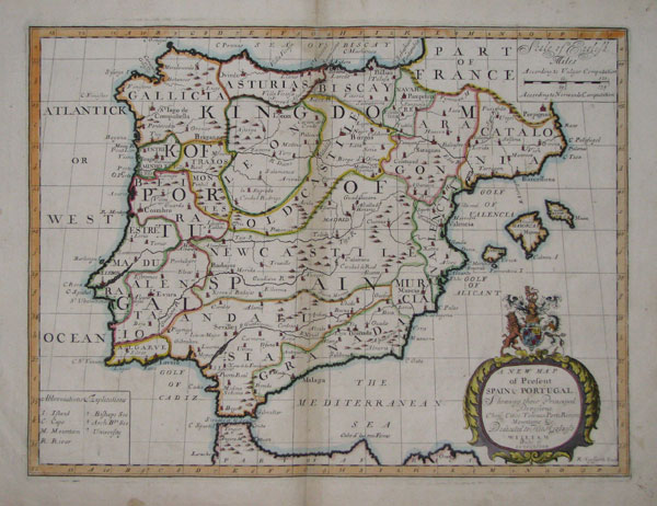 A New Map of Present Spain & Portugal,