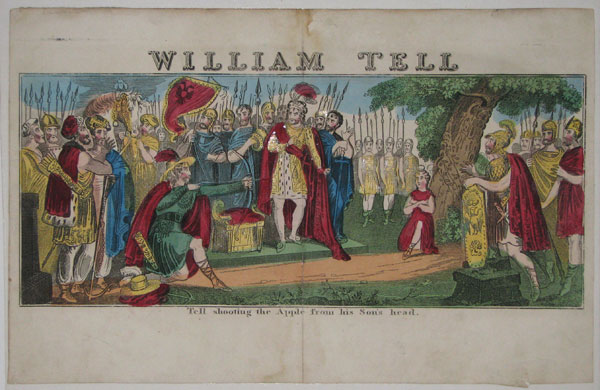William Tell. Tell shooting the Apple from his Son's head.