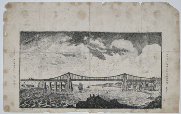[The Menai Suspension Bridge.]