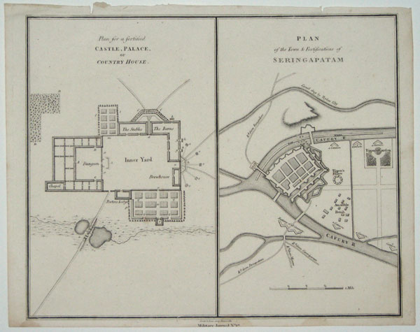 Plan For A Fortified Castle Palace Or Country House