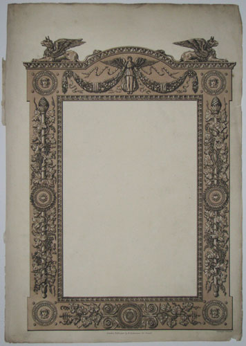 [Design for a frame (for a mirror?).]