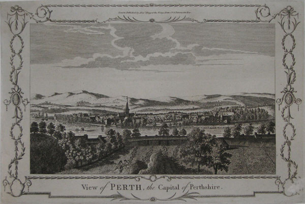 View of Perth, the Capital of Perthshire.