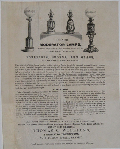 French Moderator Lamps,