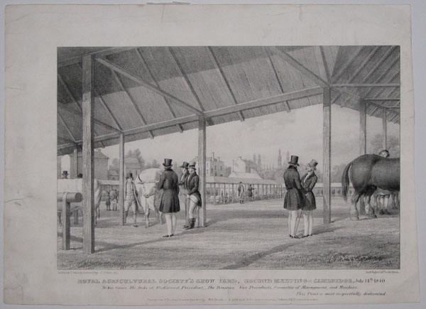 Royal Agricultural Society's Show Yard, Second Meeting at Cambridge, July 14.th 1840.