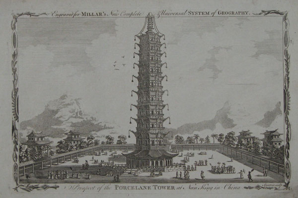 Prospect of the Porcelane Tower at Nan King in China.