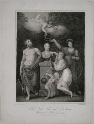 Cupid, Flora, Ceres, and Esculapius, Honouring the Bust of Linnaeus.