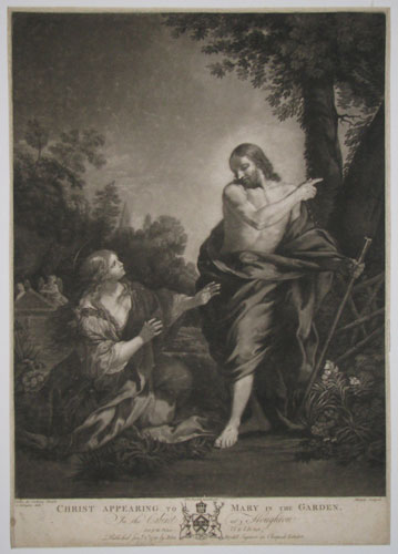 Christ Appearing to Mary in the Garden. In the Cabinet at the Houghton.