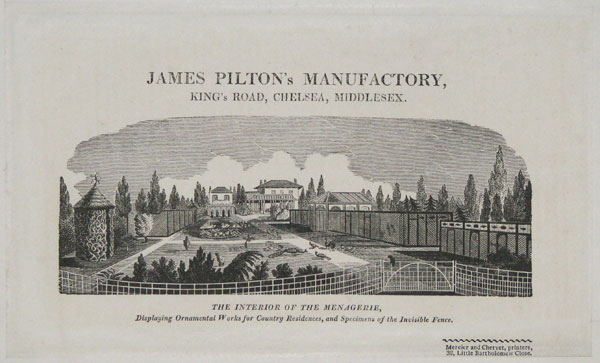 James Pilton's Manufactory, King's Road, Chelsea, Middlesex.