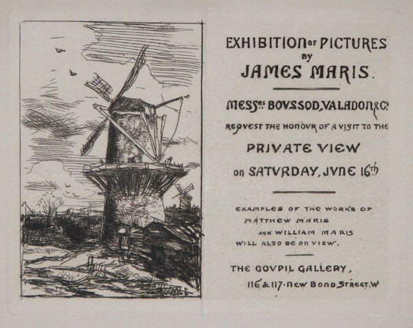 Exhibition of Pictures by James Maris.