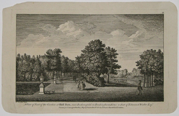 A View of Part of the Garden at Hall-Barn, near Beckonsfield, in Buckinhamshire; a Seat of Edmund Waller Esq.r.