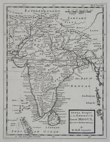 India Proper, or the Empire of the Great Mogul. Agreable to Modern History.