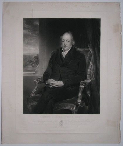 Robert William Wynne Esq.re of Gathewin (late Lieutenant Colonel of the Royal Denbighshire Militia) From the Portrait presented to him by his Friends and well wishers on the 12th. July 1836.