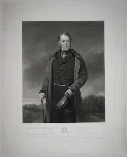 The Hon. Edw.d Mostyn Lloyd Mostyn, (of Mostyn, Flintshire) Lord Lieutenant & Custos Rotulorum of The County of Merioneth. This print is by permission most respectfully dedicated to the Lady Harriot Mostyn, By her Ladyship's Most obedient and obliged
