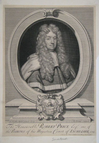 The Honourable Robert Price Esqr. One of the Barons of his Majesties Court of Exchequer 1714.