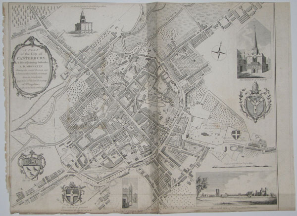 A Plan of the City of Canterbury, & the Adjoining Suburbs: A.D. MDCCCXXV.