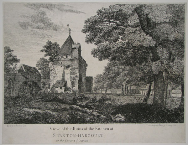 View of the Ruins of the Kitchen at Stanton-Harcourt in the County of Oxford.