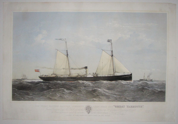 "Great Eastern Railway Company's screw steam ship ""Great Yarmouth"".  To James Goodson Esqe. M.P. & c. & c. and the other Directors of the Gt. Eartern Railway Compy. this Print is by permission respectfully by their obedient Servant, T.G. Dutton."